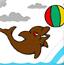 给小海豚画颜色