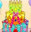 色彩生日蛋糕
