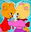 可爱的熊夫妻