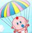 婴儿坐降落伞
