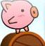 猪猪滚木桶