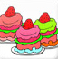 草莓冰激凌填色