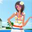 海滩阳光美女