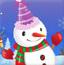 冬天趣味雪人装扮