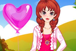 秋日气球女孩