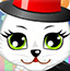打扮可爱小猫咪