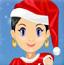 沙拉圣诞节装扮