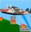 飞机载水救火