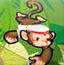 猴子喝饮料