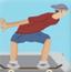 滑板男跑酷