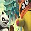 功夫熊猫打木桩
