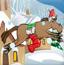 圣诞小马收礼物