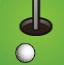 滚动的高尔夫球