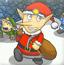 圣诞小童过冰洞