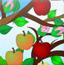苹果树下摘果果