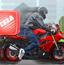 骑摩托送比萨