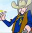 牛仔子弹穿金币