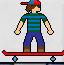 帅气男孩滑板