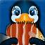 小企鹅觅食