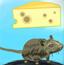 小老鼠垃圾堆吃奶酪