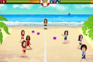 沙滩水球大战