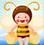 可爱小蜜蜂采蜜