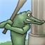 鳄鱼棒球打老鼠