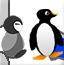 企鹅进冰洞