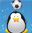企鹅顶足球