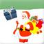 接礼物的圣诞老人