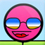 粉红色小球