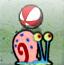 海绵宝宝的宠物顶球