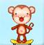 小猴接金币