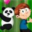 与小熊猫爬竹子