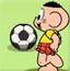 泡泡踢足球