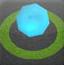 滚动蓝色水晶球