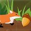 小狐狸收集栗子