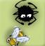 蜘蛛织网捕蚊子