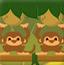 猴子扔水果