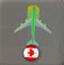 机场泊飞机