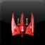 太空红色战斗机