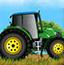 农场开拖拉机