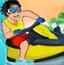 海上摩托冲浪男孩