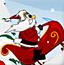 圣诞老人玩雪橇