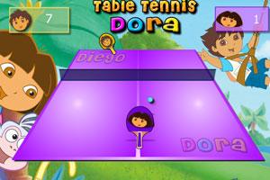 朵拉打乒乓