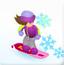 滑雪板女孩贝蒂