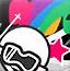 彩虹滑雪人