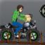 少年骇客骑哈雷摩托