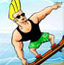 海滩耍酷滑板