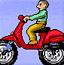 男孩骑摩托